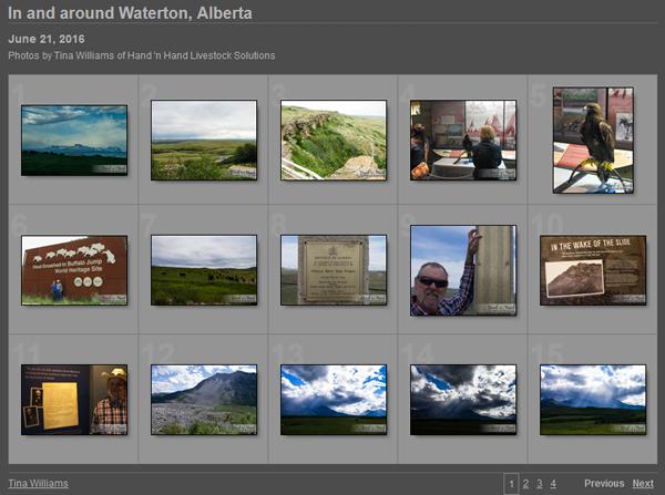 Waterton photos screenshot