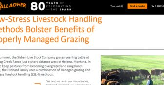 Low-Stress Livestock Handling Methods Bolster Benefits of Properly Managed Grazing