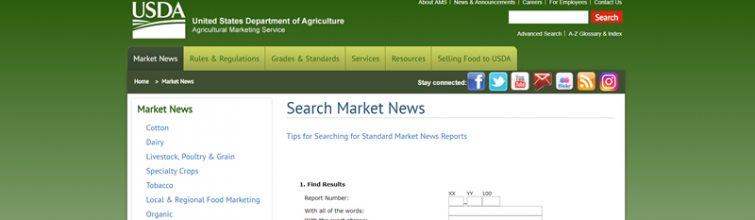 Find Archived USDA Price Reports